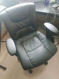 Black leather office chair London, N6G 1R4