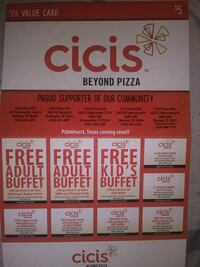 Cicis coupons Brownsville
