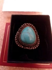 blue turquoise gemstone ring in box Leesburg, 20175