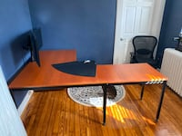 Very sturdy wood desk for sale, chair and desk pad included Norfolk, 23508