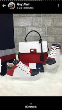 röd-vit-och-blå Tommy Hilfiger high-top sneakers med box skärmdump