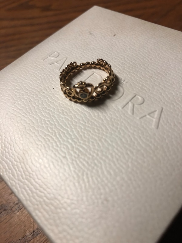 f54ad76ce3e22 My princess tiara ring rose gold Pandora. It's a size 5 price is negotiable  any questions ask