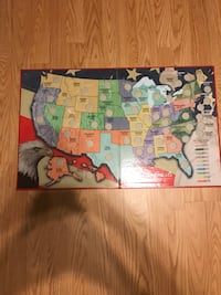 fifty state quarters collector map