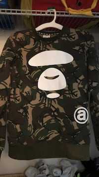 green and brown Bathing Ape crew-neck sweater Falls Church, 22046