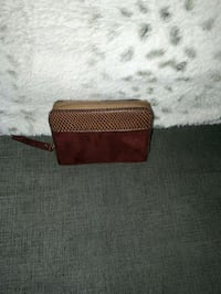 Wallet red and tan