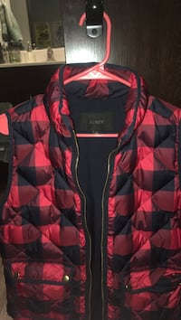 Black-and-red zip-up jacket