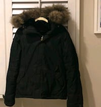 TNA Black Winter Jacket with fur hood Calgary