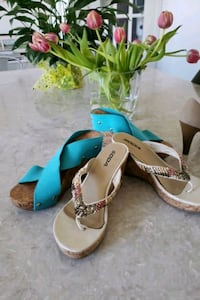 Summer sandals.  Size 8.  Both for $25  Toronto, M9N 3A5