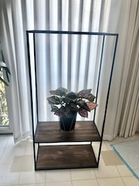 Wooden Shelf with Hanging Rack