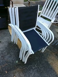 Six Metal outdoor chairs and table Marietta, 30008