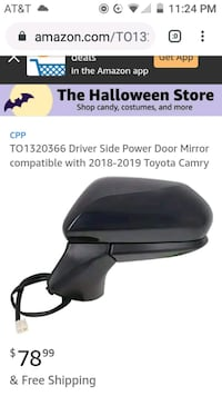 Toyota Camry drivers side power mirror (2018-2019) Chicago, 60625