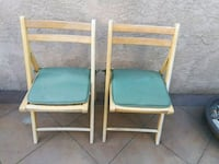 Pair of World Market outdoor wood frame chairs Rancho Cucamonga, 91739