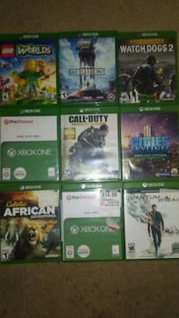 9 xbox one games great condition Gerrardstown, 25420
