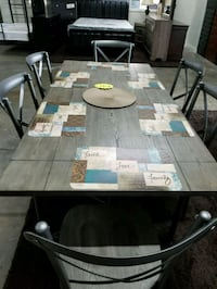 New! Rustic  table  with  6 chairs only $599 Arlington, 76018