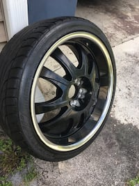 """20"""" black and chrome rims with tires Saint Petersburg, 33712"""