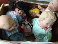 Box of porcelain baby dolls and clown  Rosendale, 12561