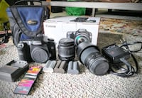 Canon 40D body plus lenses, memory cards, 2 chargers, bag