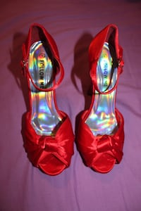 Red holographic heels  Manchester, M14 5PR