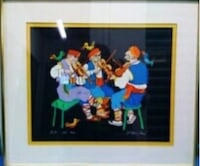"Framed Print Of Jovan Obican's ""Three Violinists"" Henderson, 89014"