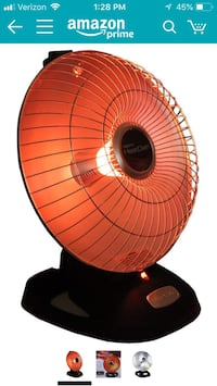 Presto Heat Dish Parabolic Electric Heater With Quick, Concentrated Heat Herndon, 20171