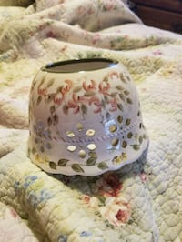 Home interior floral candle shade