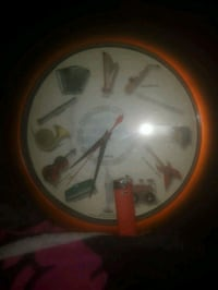 Musical wall clock 11×11 battery operated