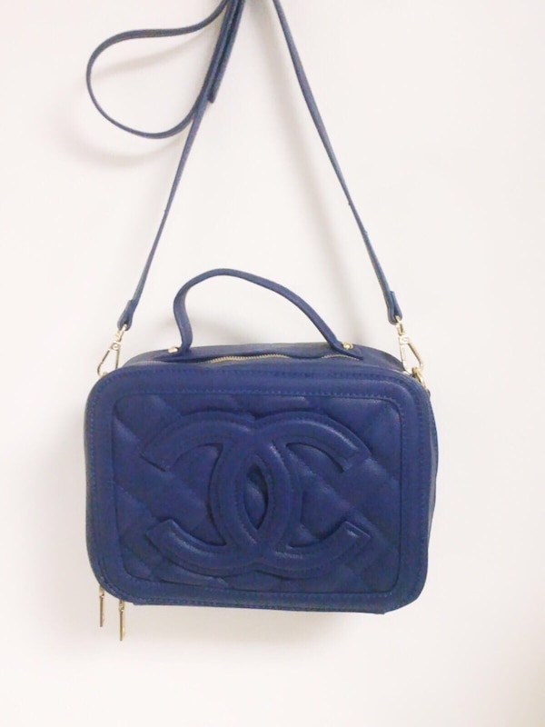 5a7e73f1d54e Used blue Chanel leather quilted crossbody bag for sale in Coral Springs -  letgo