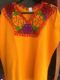 women's red and yellow floral blouse Fontana, 92335