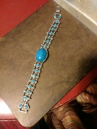 Turquoise and silver colored bracelet Louisville, 40203