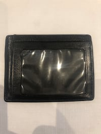 Coach Cardholder Black Genuine Leather New