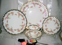 white-and-red floral ceramic dinnerware set 528 km