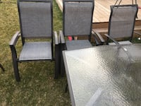 Patio table and 6 chair  Ajax