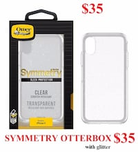 IPHONE X  SYMMETRY OTTERBOX $35 OR $40 WITH TEMPERED GLASS Montréal