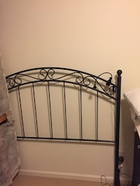 Black/navy metal headboard (QUEEN) with matching footboard ( not in picture)