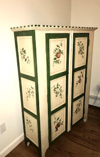 HAND PAINTED TWO DOOR CABINET