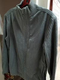 New full zip grey with pattern sweater. Mexx.