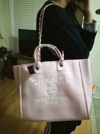 Pinkchanel canvas tote bag Mississauga, L4Z 3M4