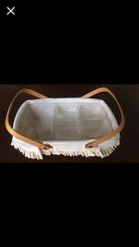 Longaberger Basket with Compartment Liner Virginia Beach, 23456