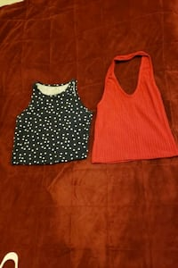 Tow Crop top red and navy  Toronto, M2J 5A7