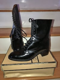 Charles David, Black Patent Leather Lace up Boots, SIZE 81/2 - NEVER BEEN WORN Los Angeles, 91405