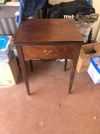 Brown wooden sewing table with vintage kenmore sewing machine Henderson, 89014