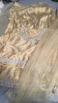 Gold silver embellished top and skirt Toronto, M8Y 1L4