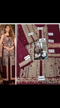 Women's red and white traditional dress large size Pakistani  54 km