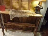 Rustic hand made entry way table or sofa table  675 mi