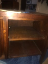 Solid 100% teal wood table w shelves San Francisco, 94110