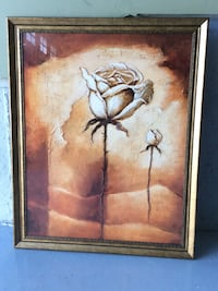 brown wooden framed painting of brown flower Oshawa, L1K 3C4