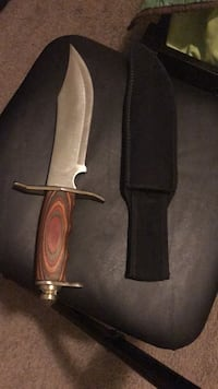 brown handled knife with sheath Raleigh, 27610