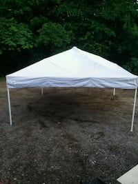 white and gray dome tent