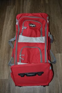 ROLLING DUFFEL - 32 inch Olympia USA 22 Inch 8 Pocket Rolling Duffel Bag-RED color  Annapolis, 21403