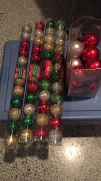 Assorted Christmas Tree Ornaments and Decorations